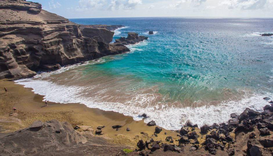Green Sand Beach of Hawaii