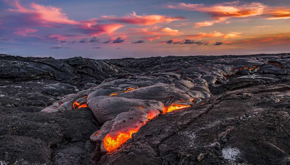 Lava Flowing in Puna Hawaii