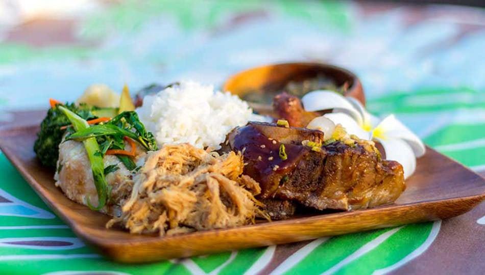 Legends of Hawaii Luau meal