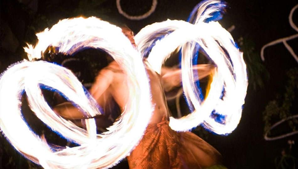 Legends of Hawaii Luau Fire Dancer