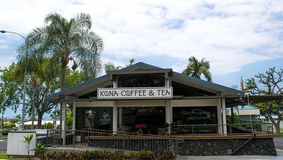 Kona Coffee and Tea front of building
