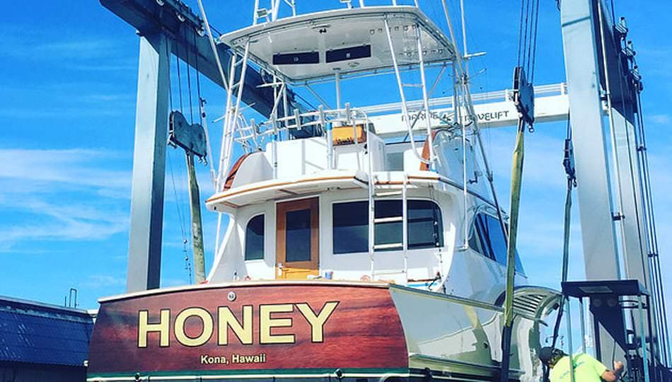 "Kona Sea Adventures boat the ""HONEY"" is a custom 38' Buddy Davis"