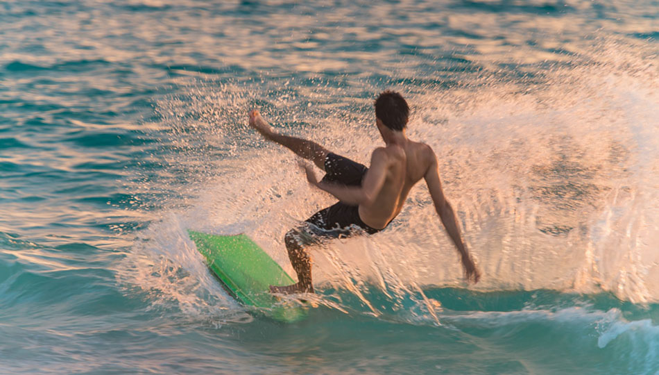 Boogie Boarding on Hapuna Beach