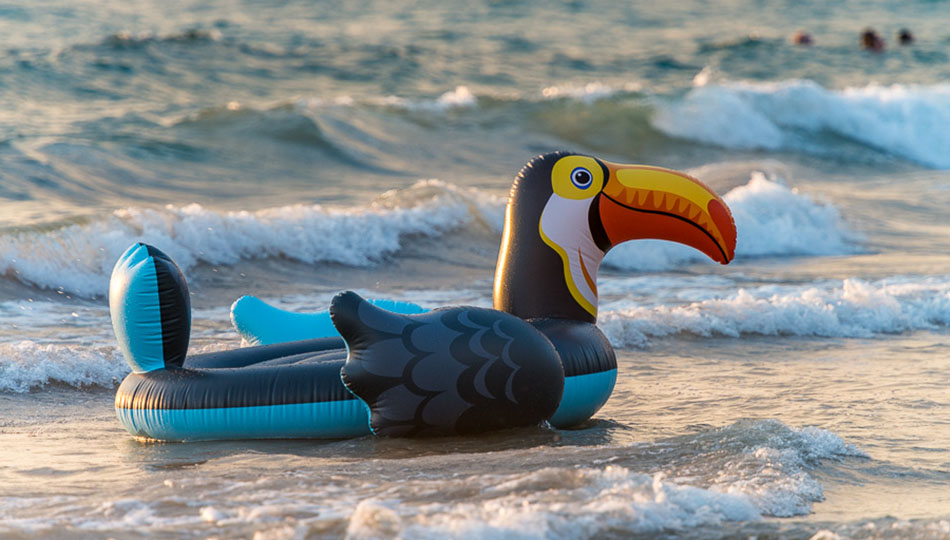Toucan Beach Toy Floating on the water at Hapuna Beach