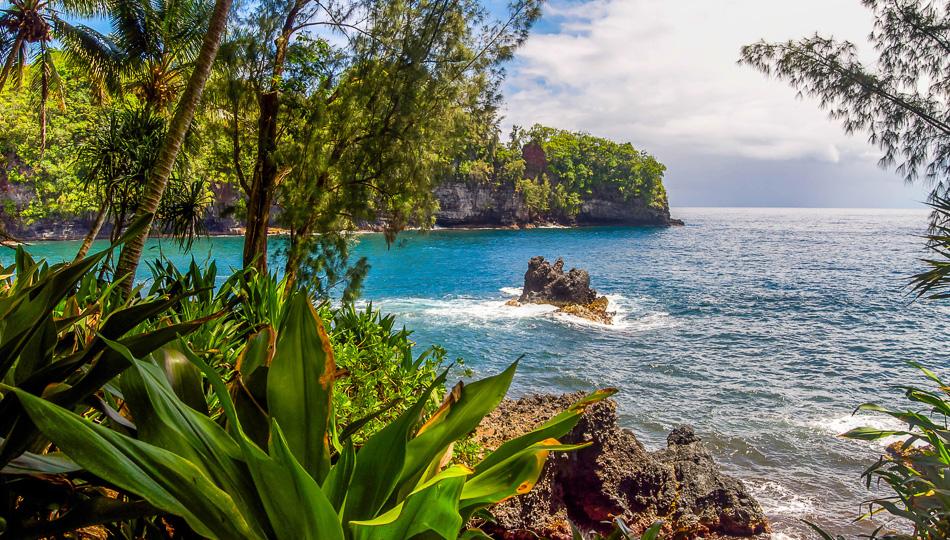 Hawaii Coastline near Puna Hawaii