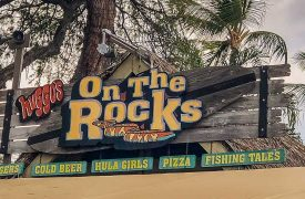 Huggo's on the Rocks Sign