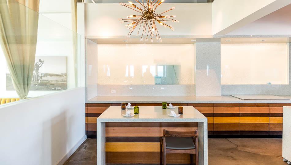 Elegant and modern seating at Hula Hulas Restaurant