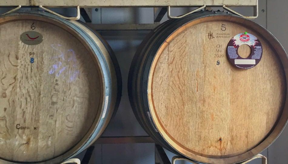 Kona Brewing Company tour aging barrels