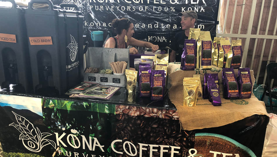 Vendors offer Coffee Samples at the Kona Coffee Festival