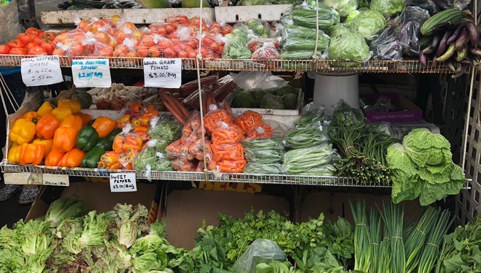 Fresh Veggies at a Big Island Farmers Market