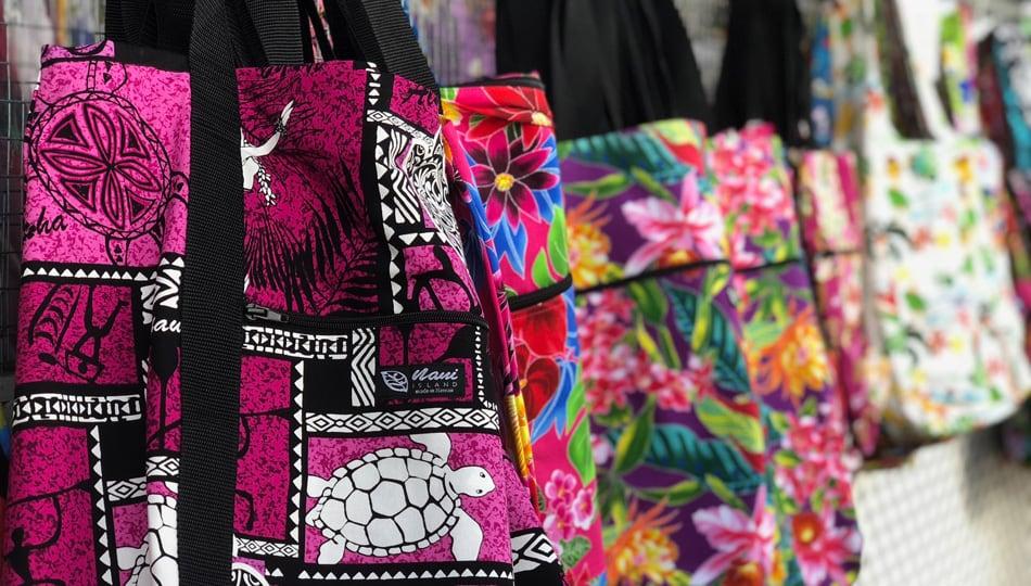 Hand Sewn Bangs at the Kona Big Island Farmers Markets