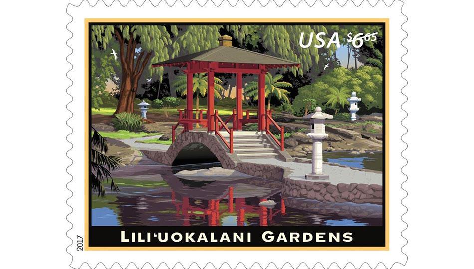 Liliuokalani Gardens US Postal Stamp