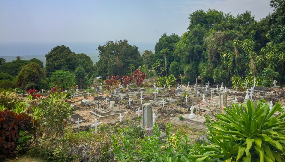 Historic Cemetery St Benedict Church also known as the Painted Church in Kailua Kona