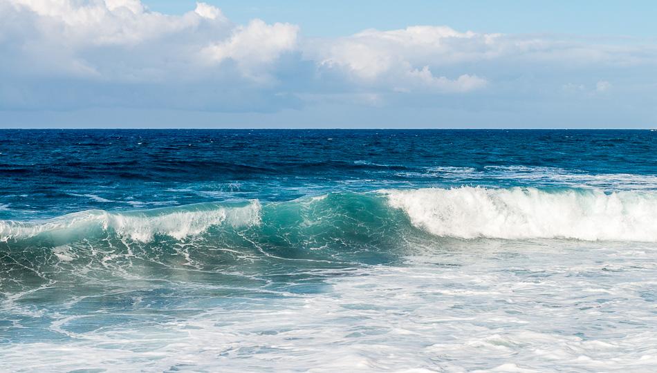 Waves on the Waipio Valley Black Sand Beach
