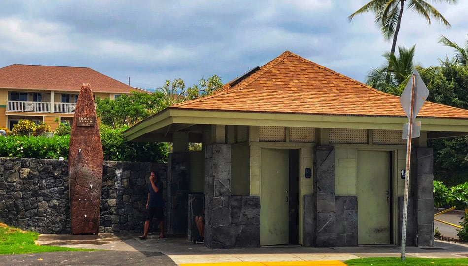 Restroom and Shower at Honl's Beach Park