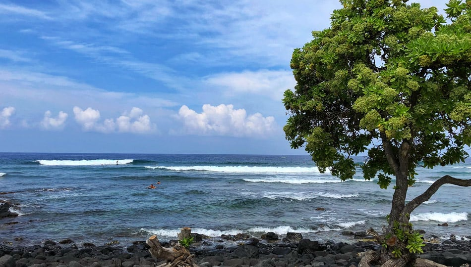 Kohanaiki Beach Park Surfers