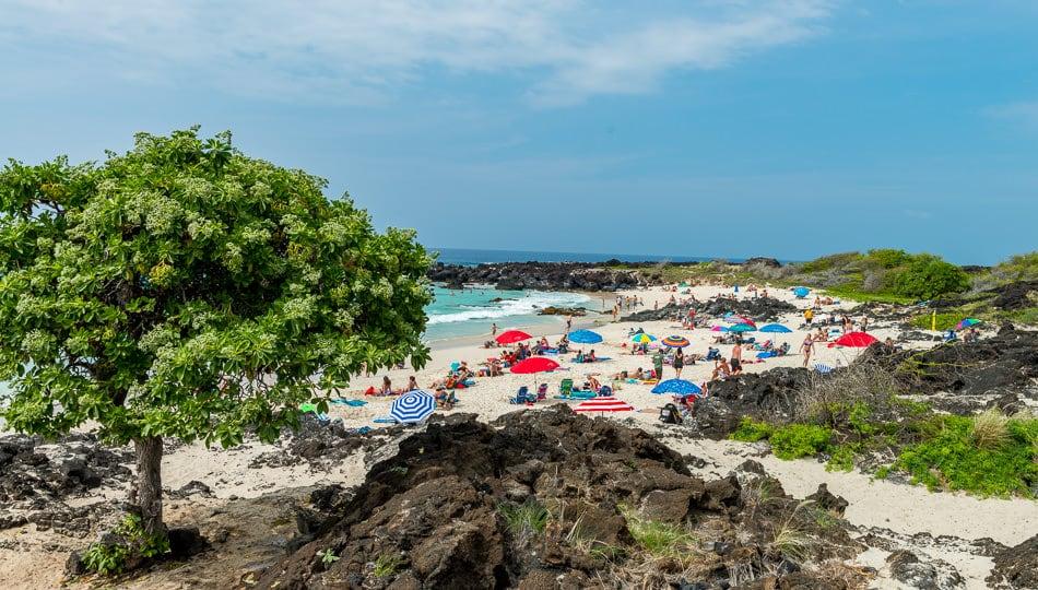 Maniniowali Beach at Kua Bay on a busy day