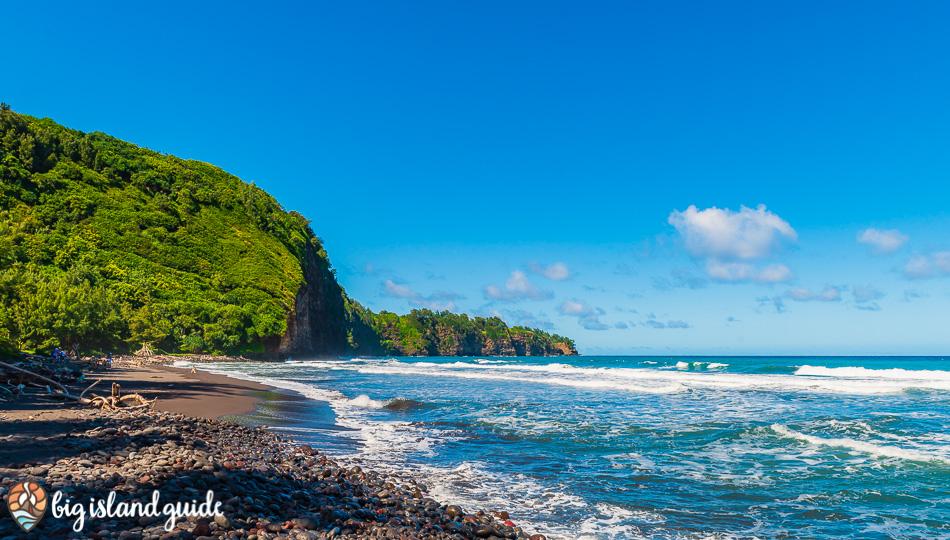 Pololu Valley Black Sand Beach