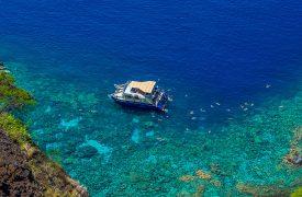 Fair Wind Cruises Boat Moored at Kealakekua Bay