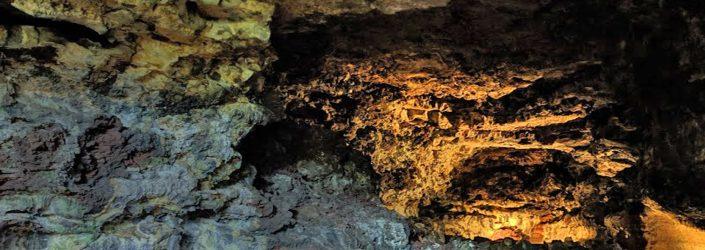 lava rock formations at the Kula Kai cavern