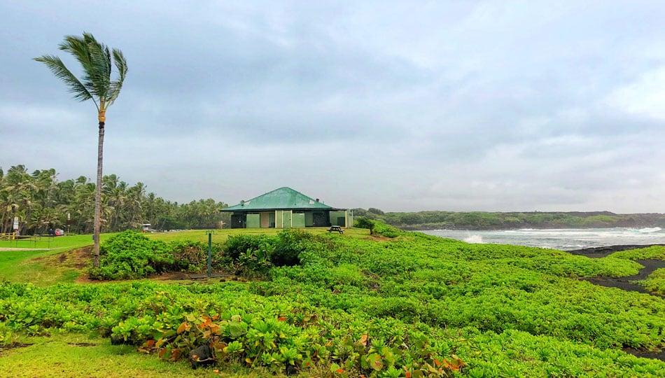 Restroom Facilities at Punaluu Black Sand Beach