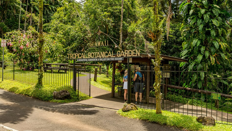 Entrance to Hawaii Tropical Botanical Garden on the Big Island