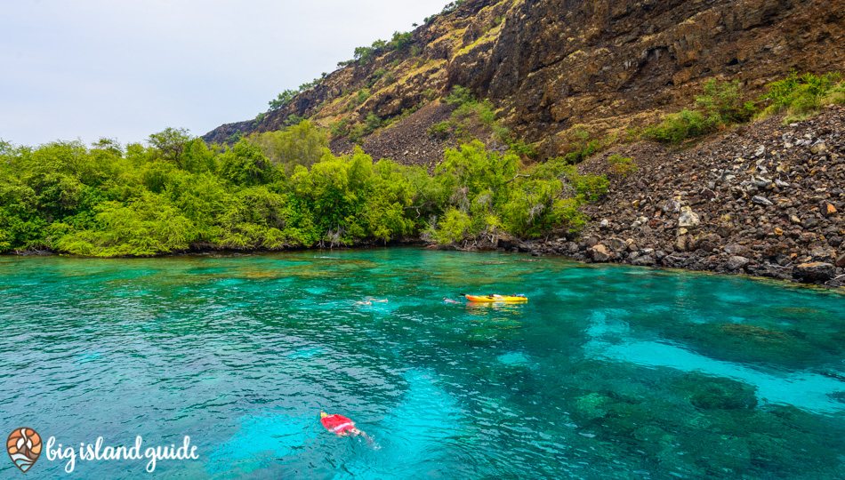 Kealakekua Bay offers kayaking and some of the best snorkeling on the Big Island