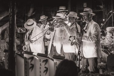 Kahulanui Band Playing at Gertrudes Jazz Bar