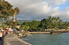 Downtown Kailua Kona During the Kokua Kailua Art Fair and Village Stroll