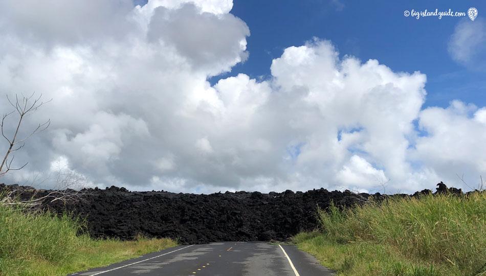 2018 Kilauea Lava Flow Blocking the Road