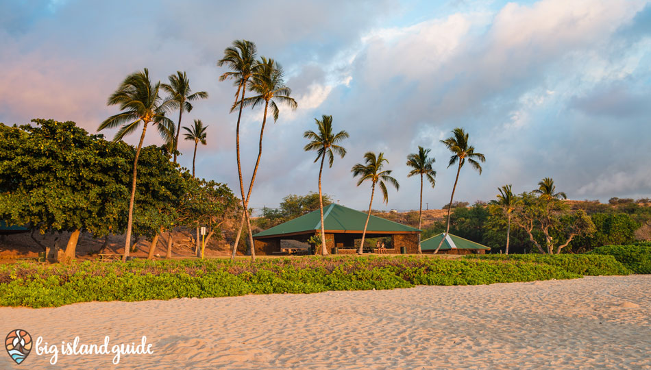 Pavilions at Hapuna Beach with Barbecue Pits and Picnic Tables