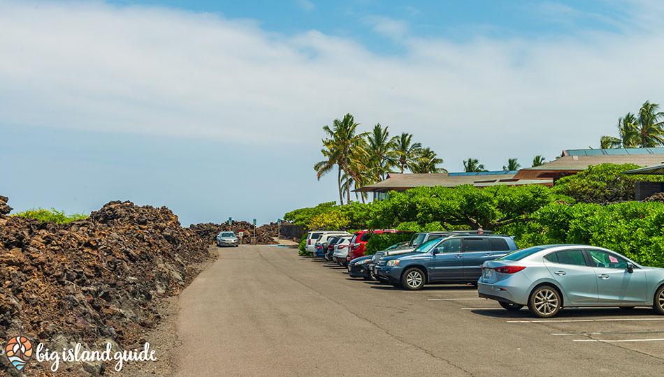 Parking Lot for Kikaua Point Beach Park