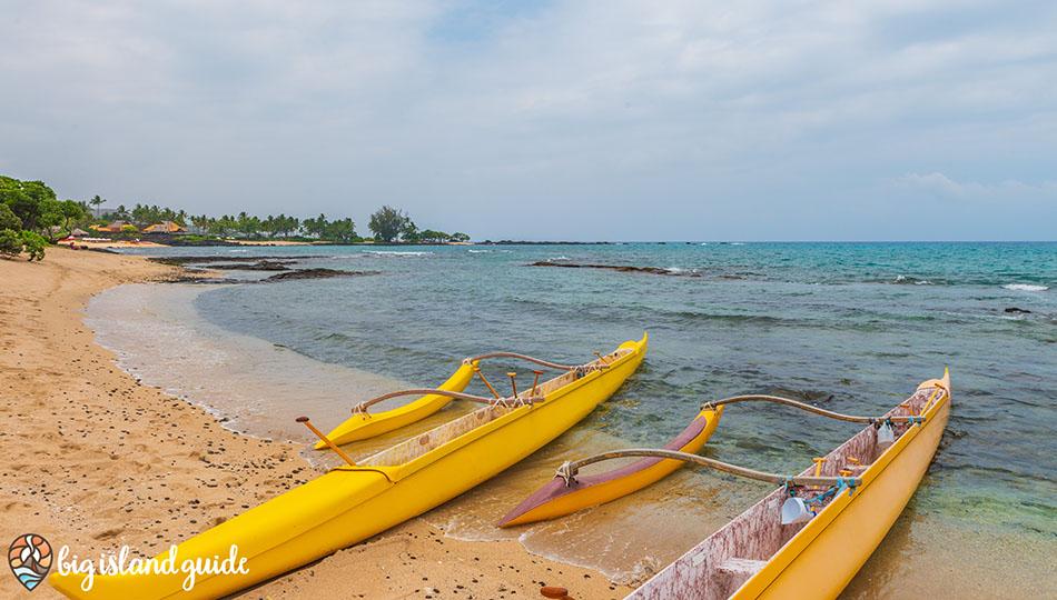 Outrigger Canoes on Kukio Beach