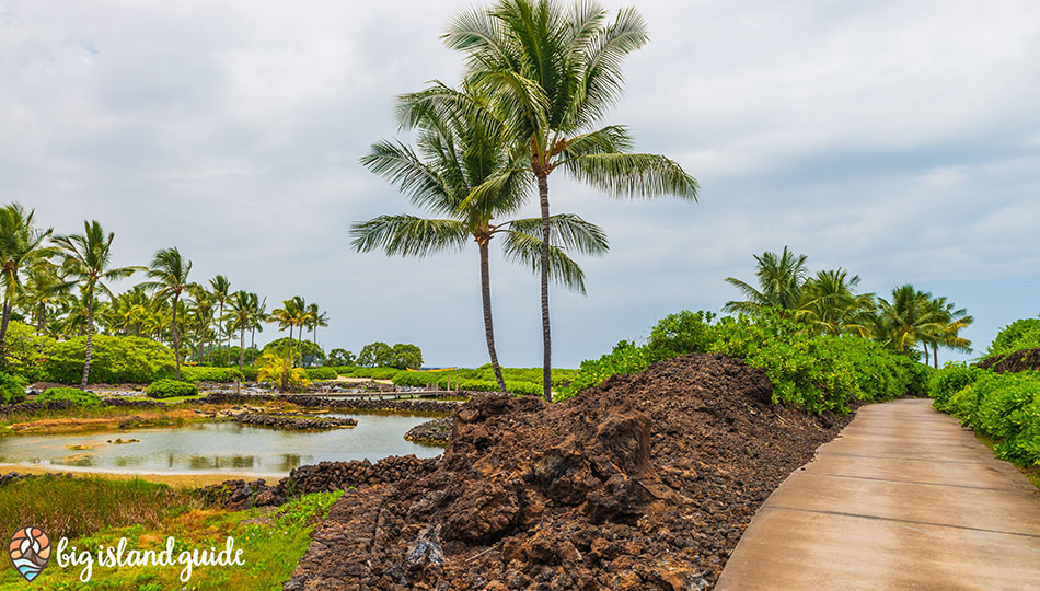 Walking Path from the Public Parking area to Kukio Beach