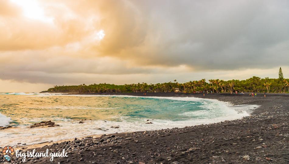 Isaac Hale Beach Park in Puna Region of Hawaii