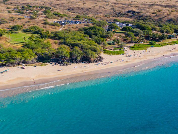 Aerial Photo of Hapuna Beach on the Island of Hawaii