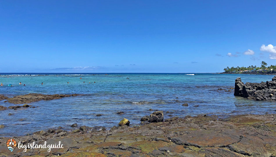 Kahaluu Beach Park is a large shallow bay perfect for snorkeling