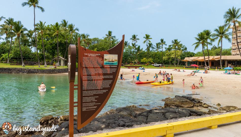 Historic Sign at the Kamakahonu Beach (King Kam Beach)