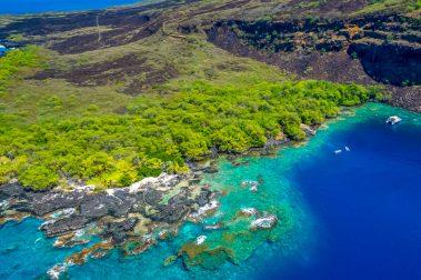 Kealakekua Bay from above