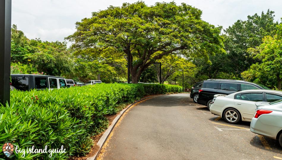 Access and Parking Lot for Kaunaoa Beach (Mauna Kea Beach)