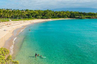 Kaunaoa Beach also known as Mauna Kea Beach
