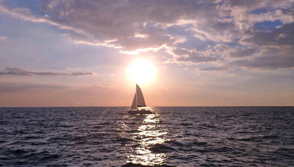 Paradise Sailing at Sunset