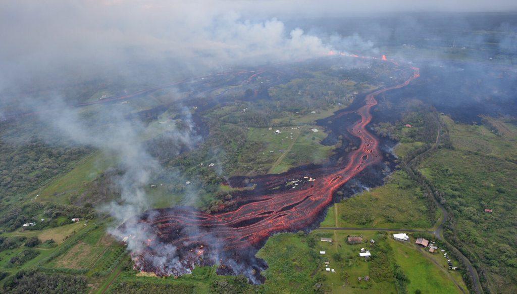 2018 Kilauea Hawaii Volcano Eruption - USGS Photo of the lava river
