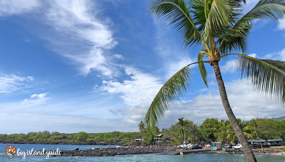 Looking Across the bay at Two Step Snorkel area at Honaunau Bay